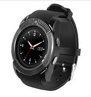 Мужские функциональные смарт-часы Smart Watch V8 черные Original