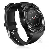 Мужские функциональные смарт-часы Smart Watch V8 черные