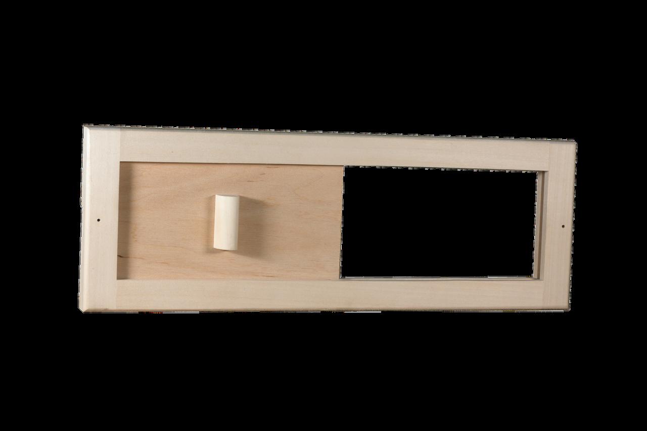 Задвижка Tesli вентиляционная 365 x 125 мм липа для бани и сауны