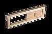 Задвижка Tesli вентиляционная 365 x 125 мм липа для бани и сауны, фото 2