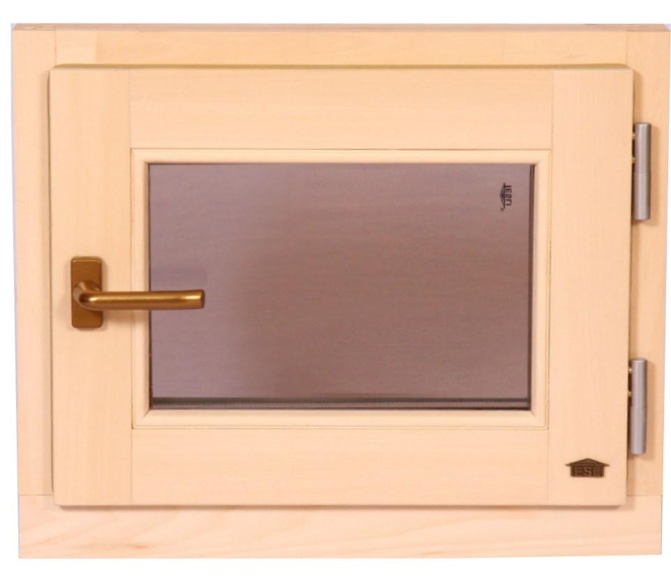 Окно для бани и сауны Tesli поворотное 600х500 мм стеклопакет двухкамерный
