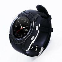 Смарт часы на руку UWatch SmartWatch V8 Android, 128МБ, камера 1,3 МП, микрофон, черные, смарт часы, умные часы