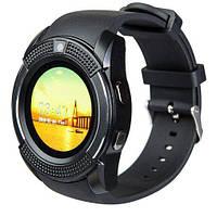 Мужские смарт-часы на руку Smart Watch V8 черные