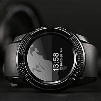 Мужские смарт-часы на руку Smart Watch Phone V8 Черные