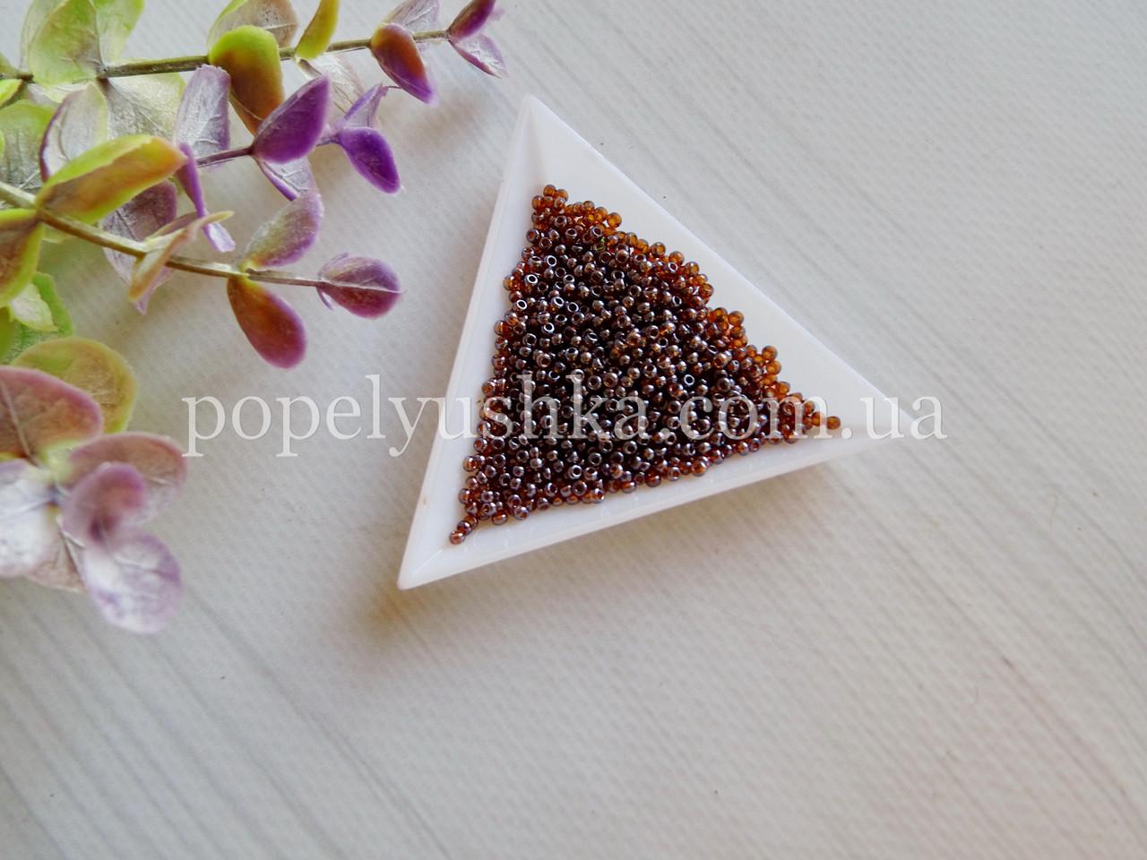 Бісер чеський Коричневий з фіолетовим відтінком (10 г)