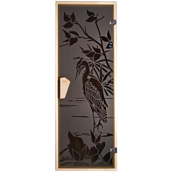 Дверь для бани  и сауны Tesli Цапля 1900 х 700