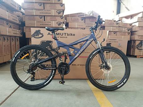"Горный велосипед 26 дюймов Azimut Shock FRD рама 18 "" BLUE, фото 2"