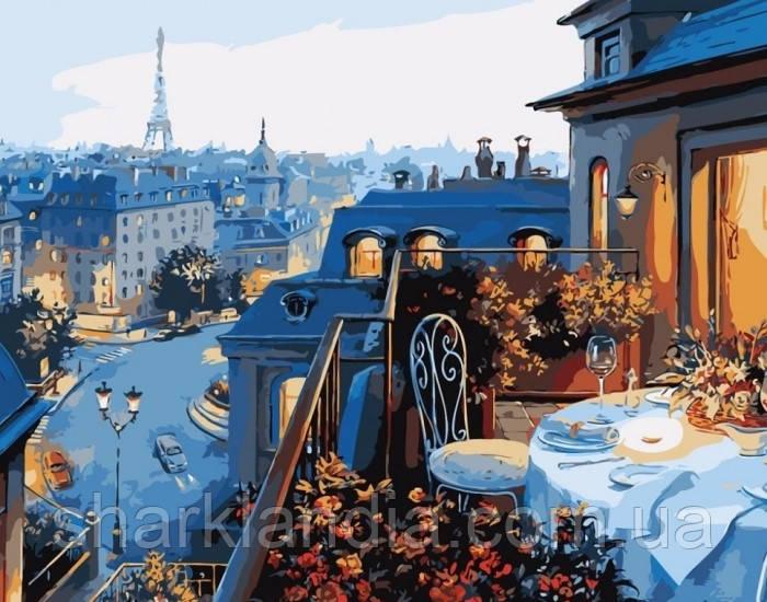 Картина по номерам Вид на Париж 40х50 Идейка KHO1107 Раскраска по цифрам