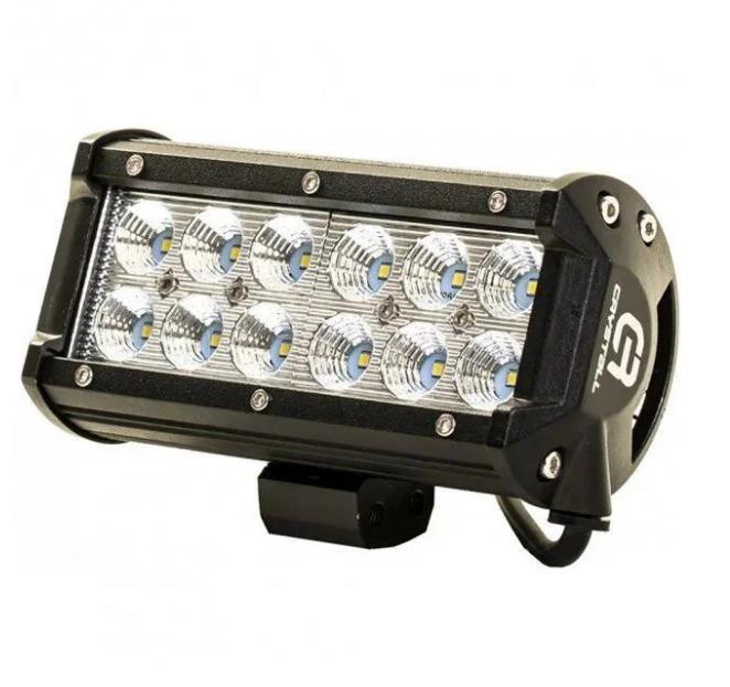 Автофара LED на крышу 12 LED 5D-36W-SPOT 160х70х80 | Светодиодная фара на 6 лампочек ближнего света
