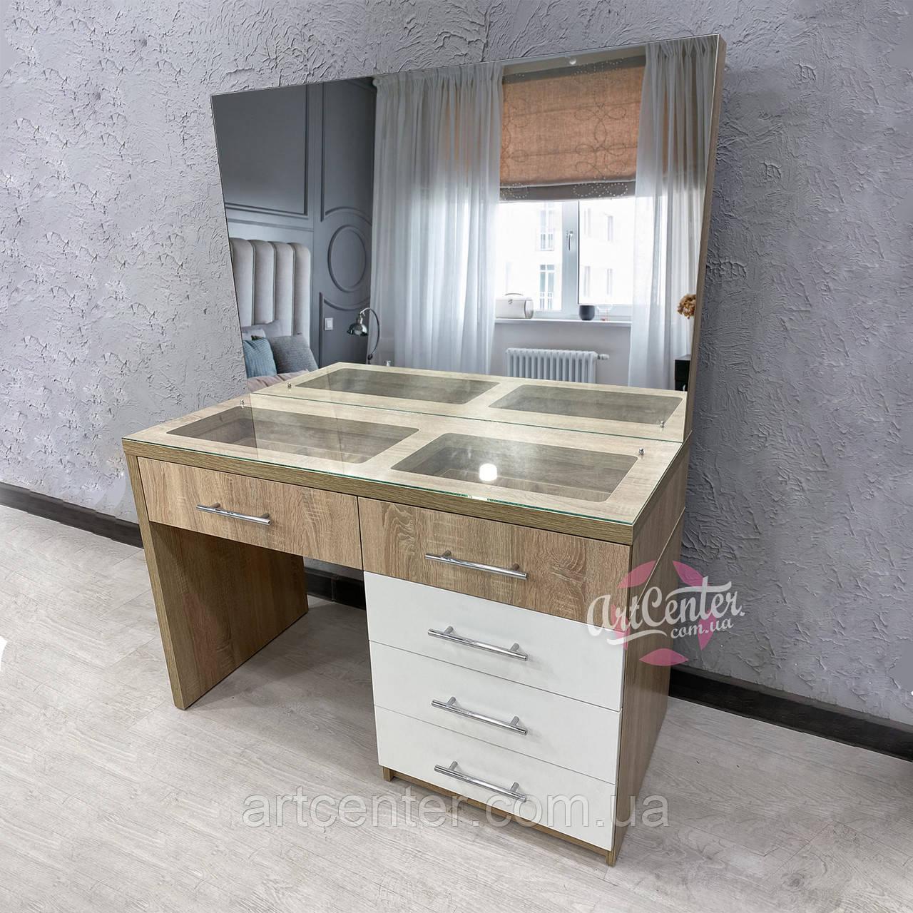 Стол для макияжа с прозрачной столешницей