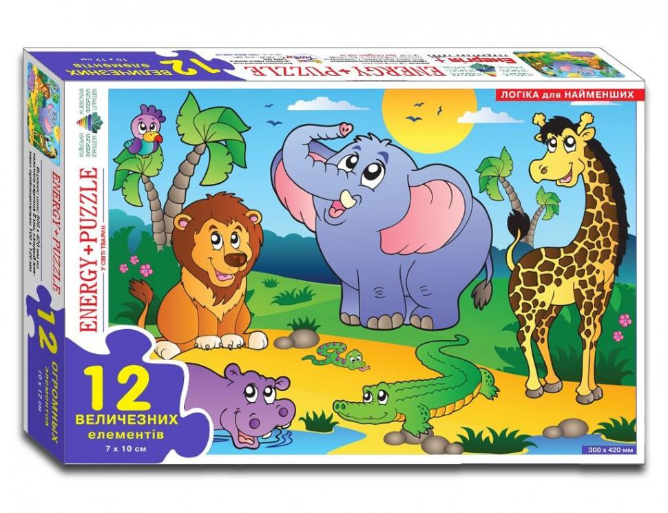"""Пазлы """"В мире животных"""" 12  в кор. 86126"""