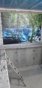 """Фотоплитка """"Водопад"""" , сделанное панно под заказ. На этапе укладки."""