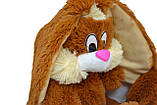 Плюшевий Зайчик Аліна Несквік 50 см коричневий, фото 2