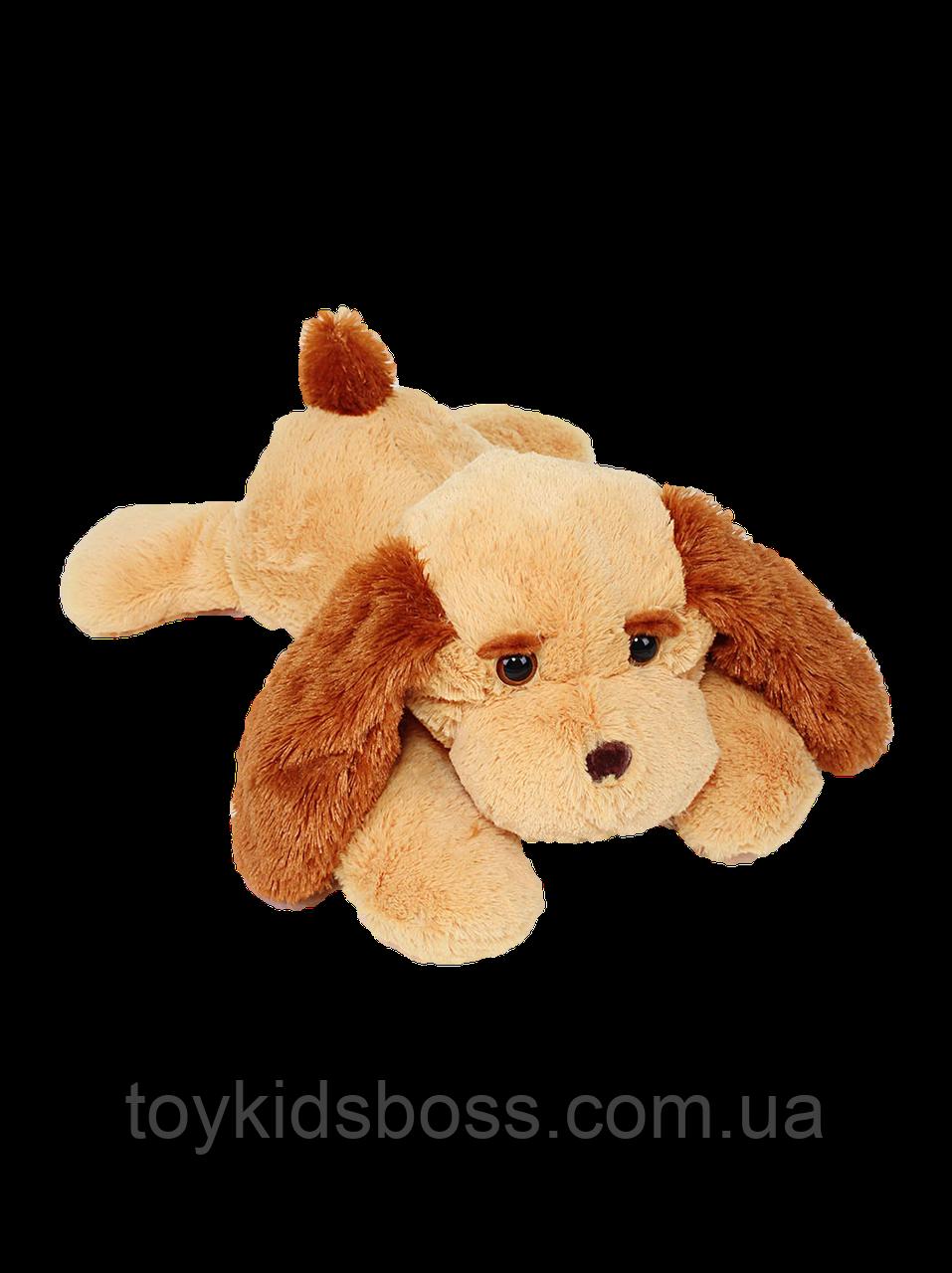 Плюшевая Собака Тузик 65 см медово-коричневый
