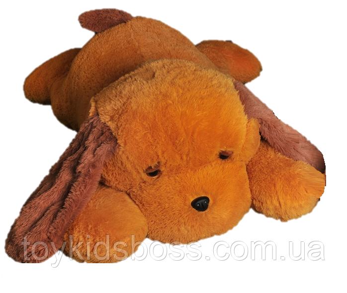 Мягкая игрушка Собака Тузик 90 см медовый с коричневым
