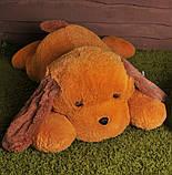 Мягкая игрушка Собака Тузик 90 см медовый с коричневым, фото 2