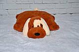 Подушка Алина собачка Шарик 55 см коричневый, фото 4