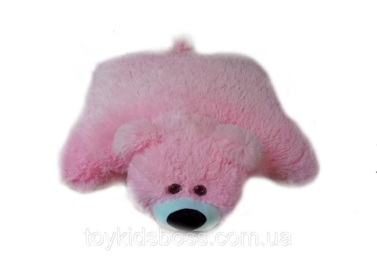 Подушка мишка 45 см розовая