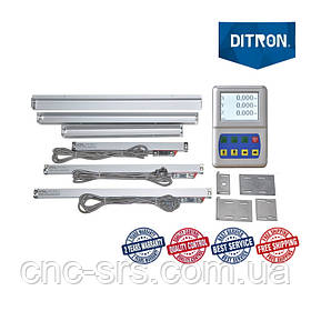 1К62 , 3 оси, РМЦ 710 мм., 5 мкм., комплект линеек и УЦИ Ditron на токарный станок