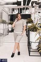 Костюм женский  футболка с бриджами с люрексом, фото 1