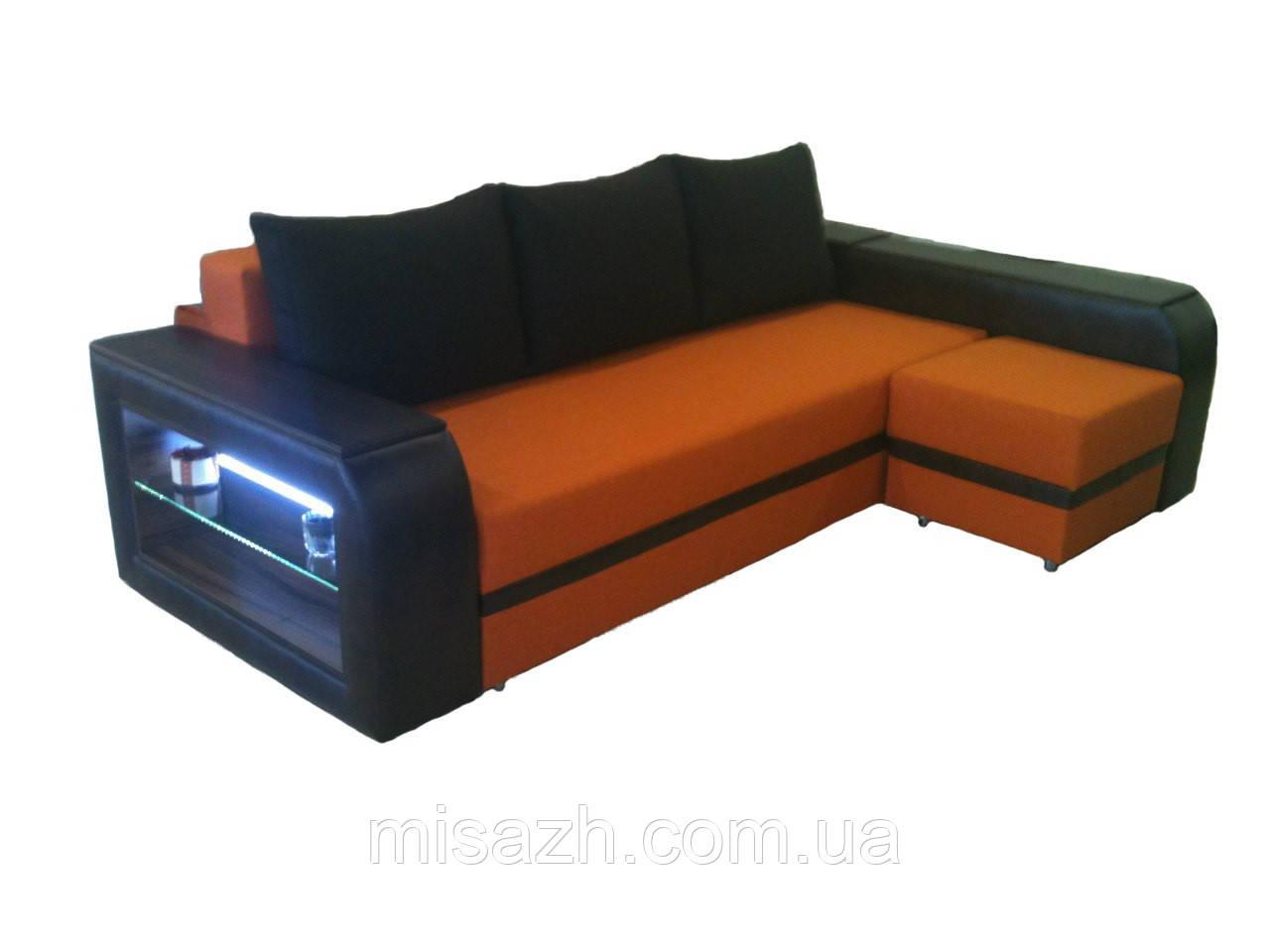"""Угловой диван """"Барселона"""" с подсветкой . витрина 85."""