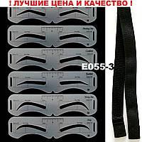 Трафареты для бровей с резинкой 6 форм 2,5 см сплошные брови, двойные формы, сдвоенные шаблоны для бровей