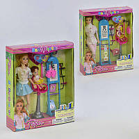 Кукла JX 100-64 (36)  Детский врач, с аксессуарами, 2 вида, в коробке