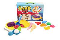 Песочный набор с кинетическим песком, формочками ТЕХНОК (6016)