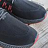 Черные мужские кроссовки носки в стиле Adidas yeezy boost v2 носки на подошве ткань текстиль сетка, фото 6