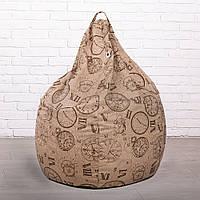 Кресло мешок груша из Эко-Жаккарда XXL