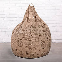 Кресло мешок груша из Эко-Жаккарда