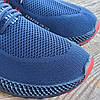Синие мужские кроссовки носки в стиле Adidas yeezy boost v2 носки на подошве ткань текстиль сетка, фото 6