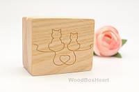 Деревянная коробочка для кольца