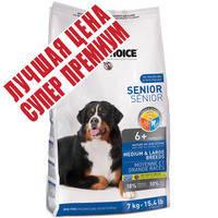 Корм для пожилых собак средних и крупных пород 1st Choice Senior Medium & Large Breeds 7 кг.
