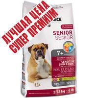 Сухой корм для пожилых собак гипоаллергенный 1st Choice Senior Sensitive Skin & Coat All Breeds 12 кг.