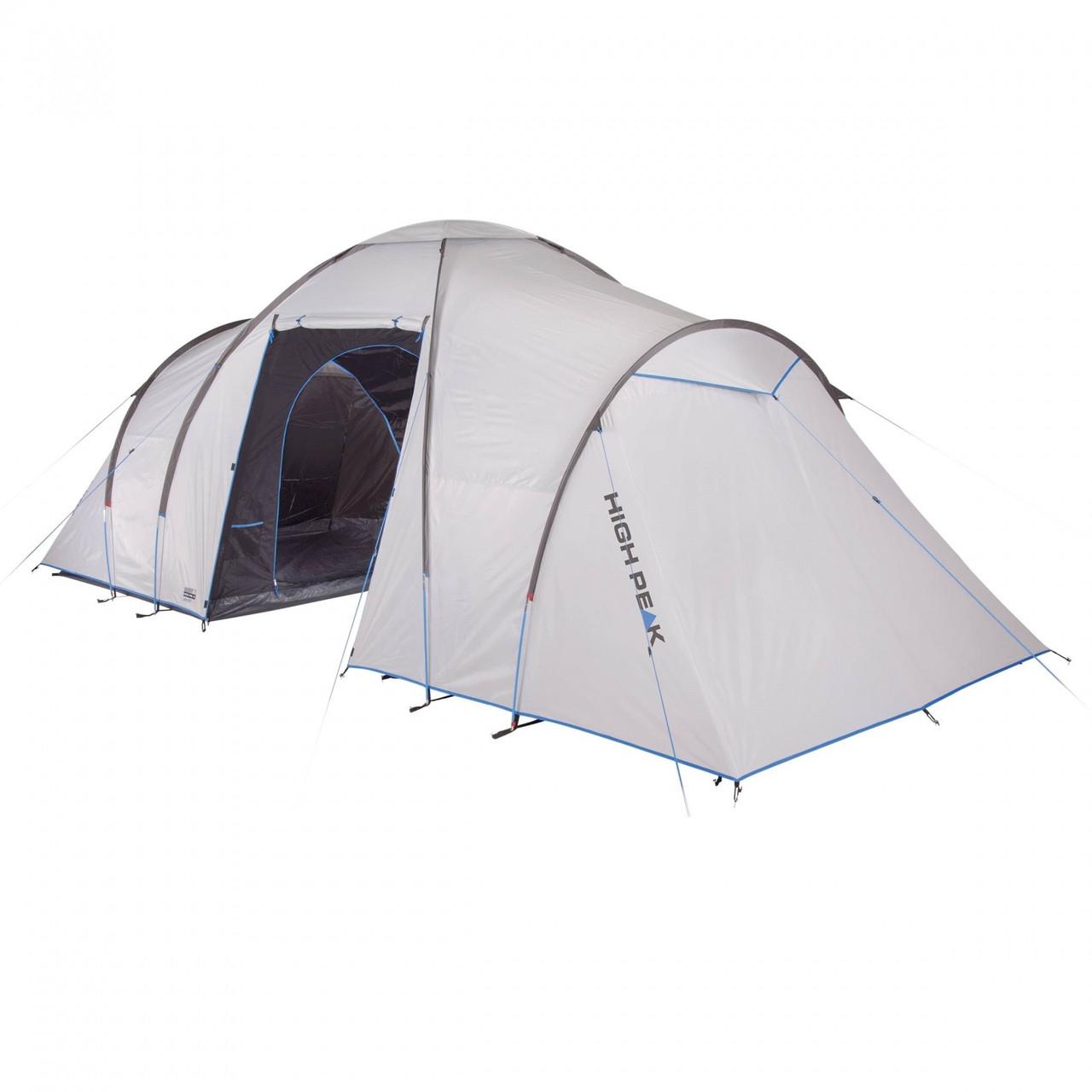 Семейная палатка для кемпинга 6 местная двухслойная с тамбуром в полный рост двухкомнатная High Peak Como 6