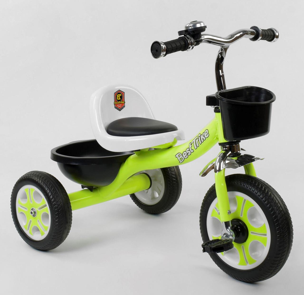 Велосипед трёхколесный Best Trike LM-3109   колеса EVA   Цвет салатовый
