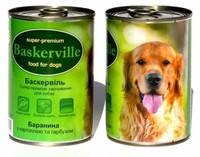 Консервы для собак Baskerville, с бараниной, картофелем и тыквой 400 гр.