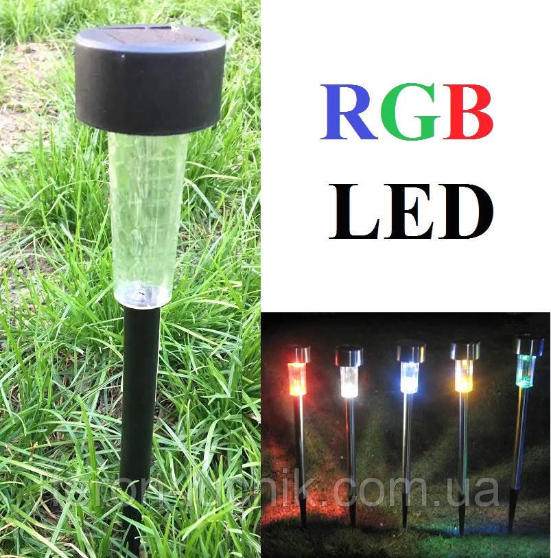 Газонный светильник RGB (смена цвета!) на солнечной батарее Lemanso CAB131 садово-парковый
