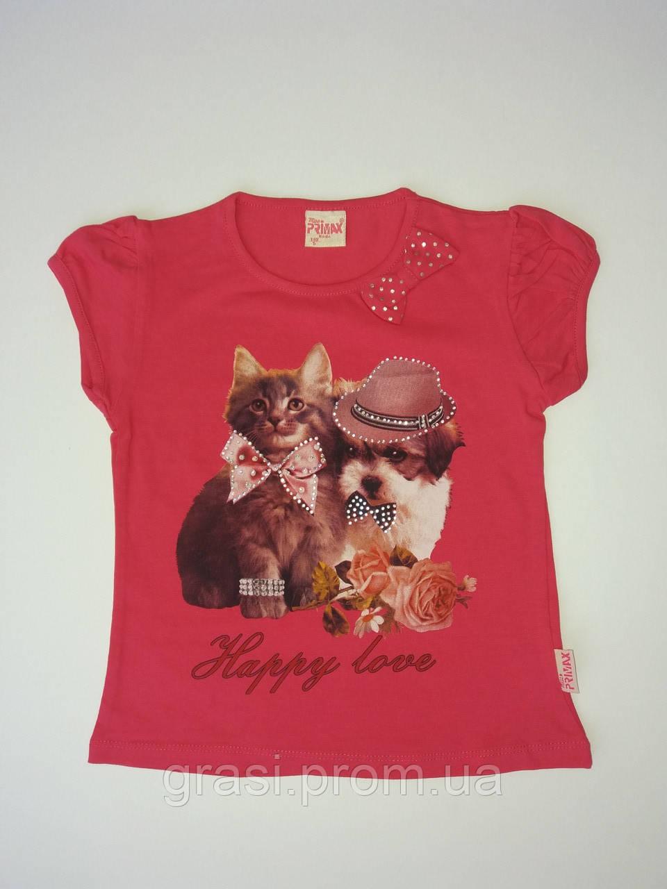 Летняя футболка для девочки рост 105