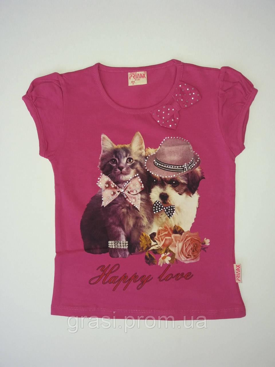 Летняя футболка для девочки 92- 104
