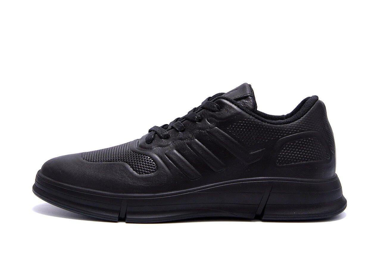 Мужские кожаные кроссовки YAVGOR Black р. 44