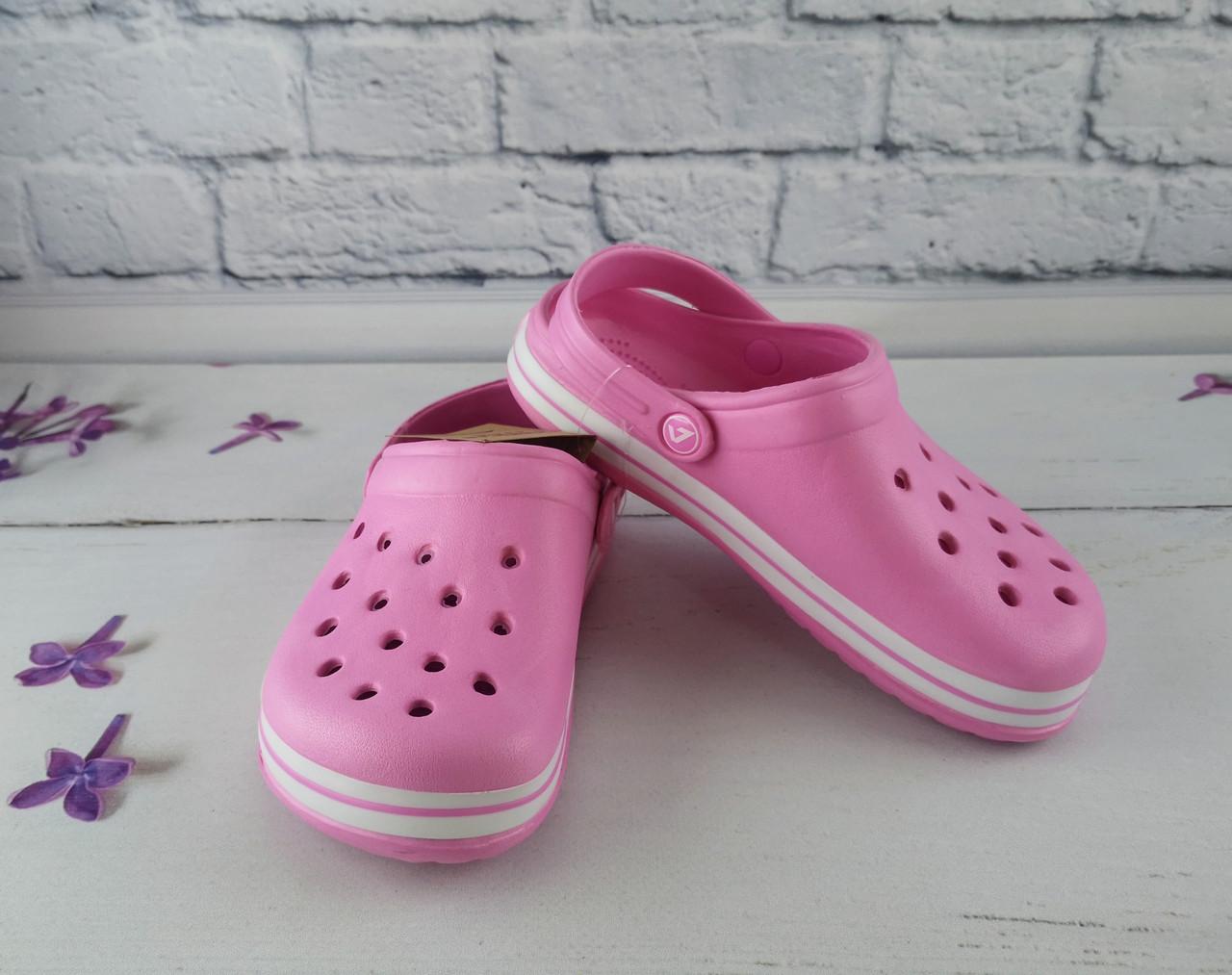 Обувь детская для девочек. Кроксы American club розовый размер 35