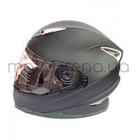 Шлем с бородой (чёрный-матовый)