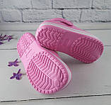 Взуття дитяче для дівчаток. Крокси American club рожевий розмір 35, фото 4