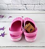 Взуття дитяче для дівчаток. Крокси American club рожевий розмір 35, фото 3