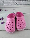 Взуття дитяче для дівчаток. Крокси American club рожевий розмір 35, фото 2