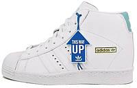 Женские кроссовки Adidas Superstar High в белом цвете, фото 1