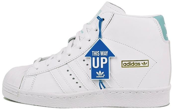 Женские кроссовки Adidas Superstar High в белом цвете