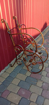 Скамейка садовая боковины кованые с листьям 2 шт., фото 2